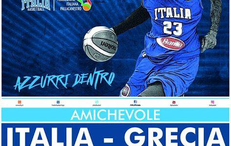 Amichevole di basket: Italia vs. Grecia