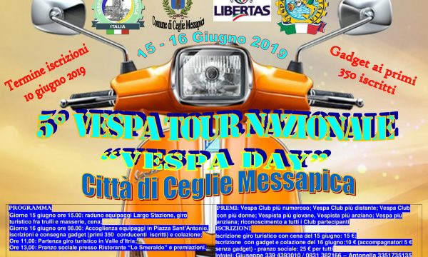 5° Raduno Nazionale Vespa Day città di Ceglie Messapica